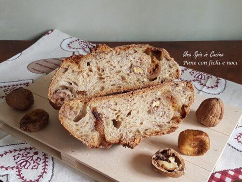 Pane con fichi e noci a lievitazione naturale