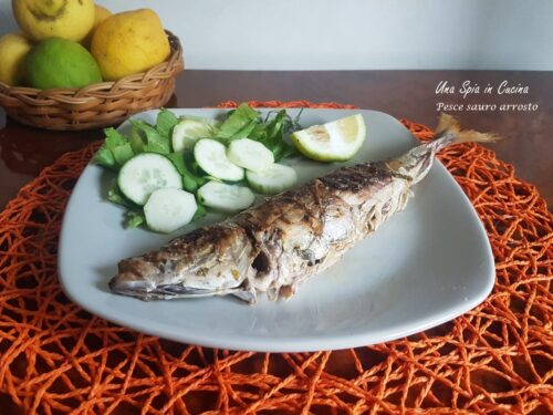 Pesce sauro arrosto al salmoriglio