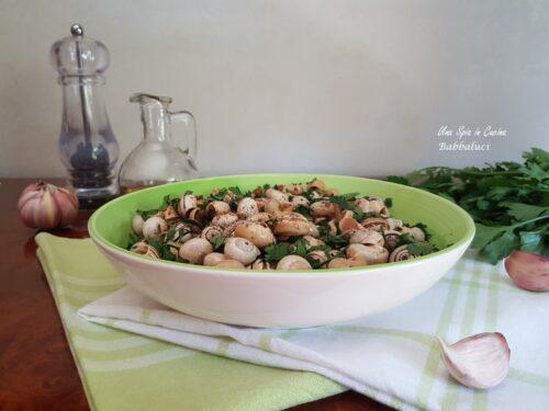 Babbaluci aglio e prezzemolo