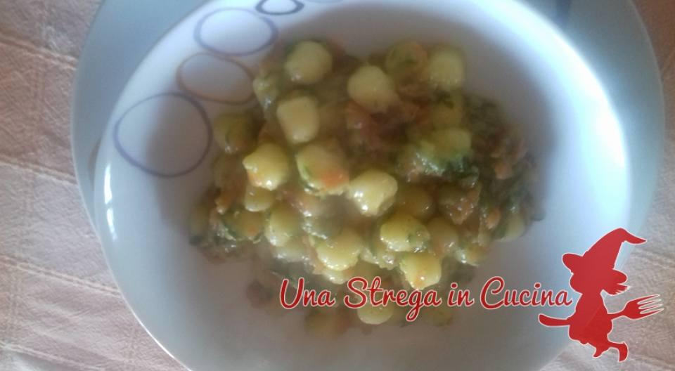 Chicche di patate con zucchine e carote