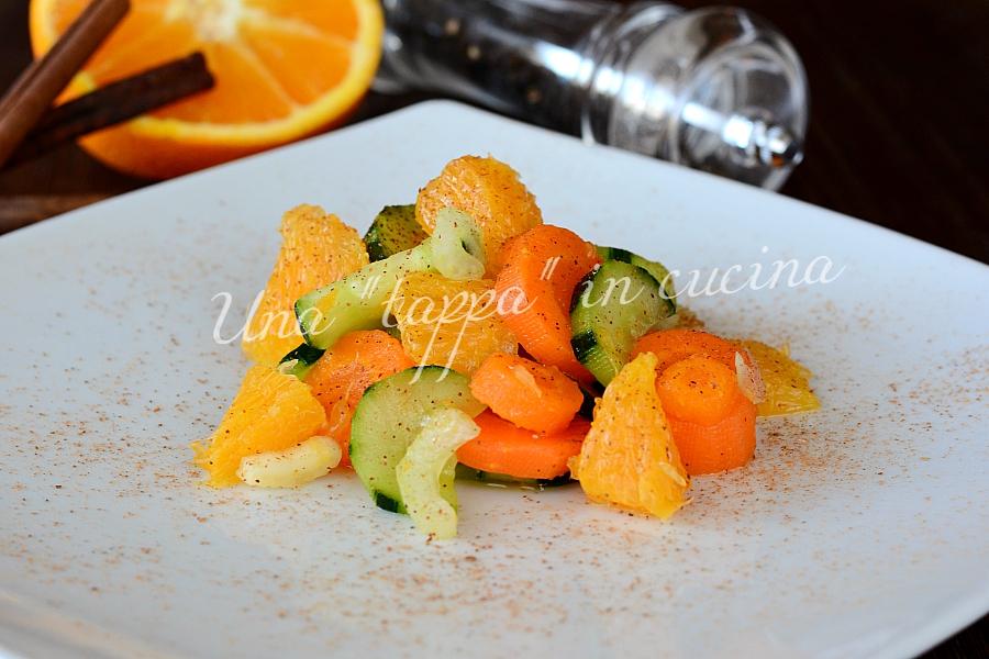 Insalata di carote e arance al profumo di cannella