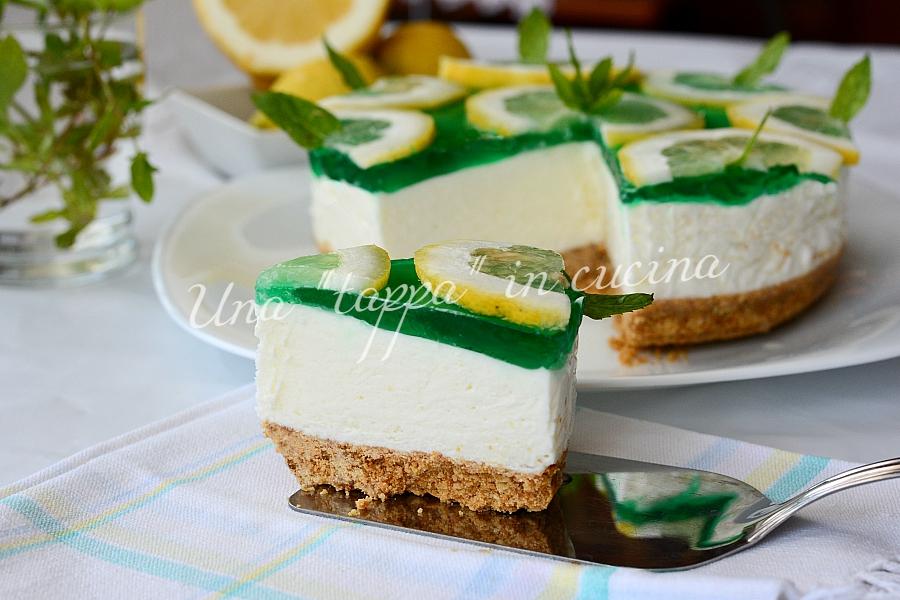 Cheesecake allo yogurt greco limone e menta