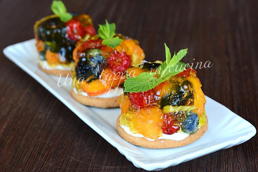 Minicakes con gelatine alla frutta