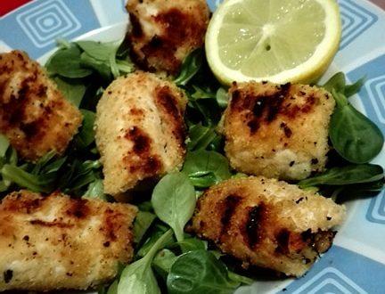 Involtini di petto di pollo grigliati