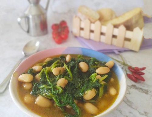 Zuppa di fagioli e cima di rapa