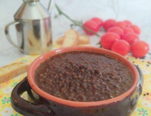Zuppa di lenticchie di Beluga