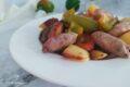 Salsiccia e peperoni in agrodolce