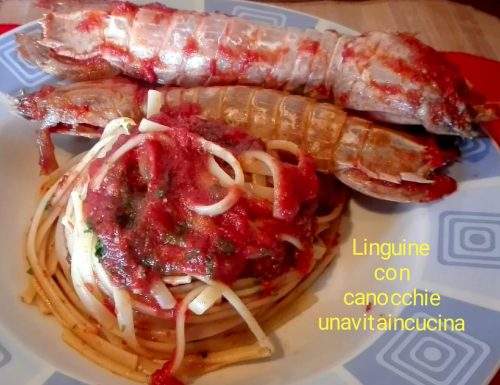 Linguine con canocchie