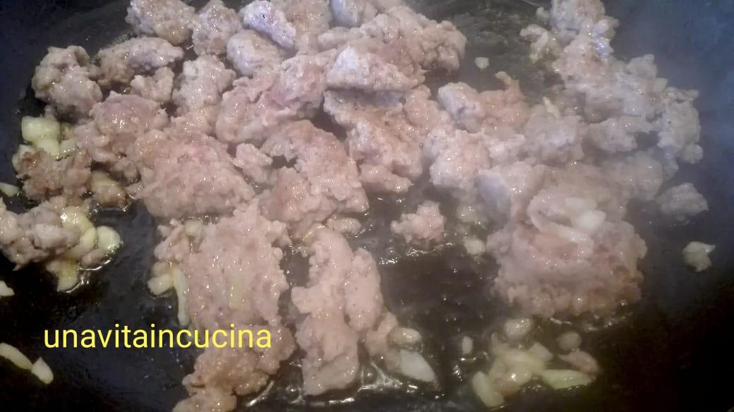 risotto con salsiccia