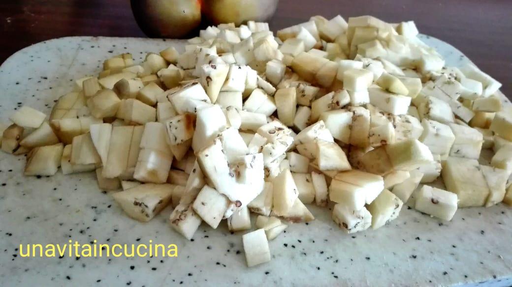 Pennette risottate con crema di melanzane