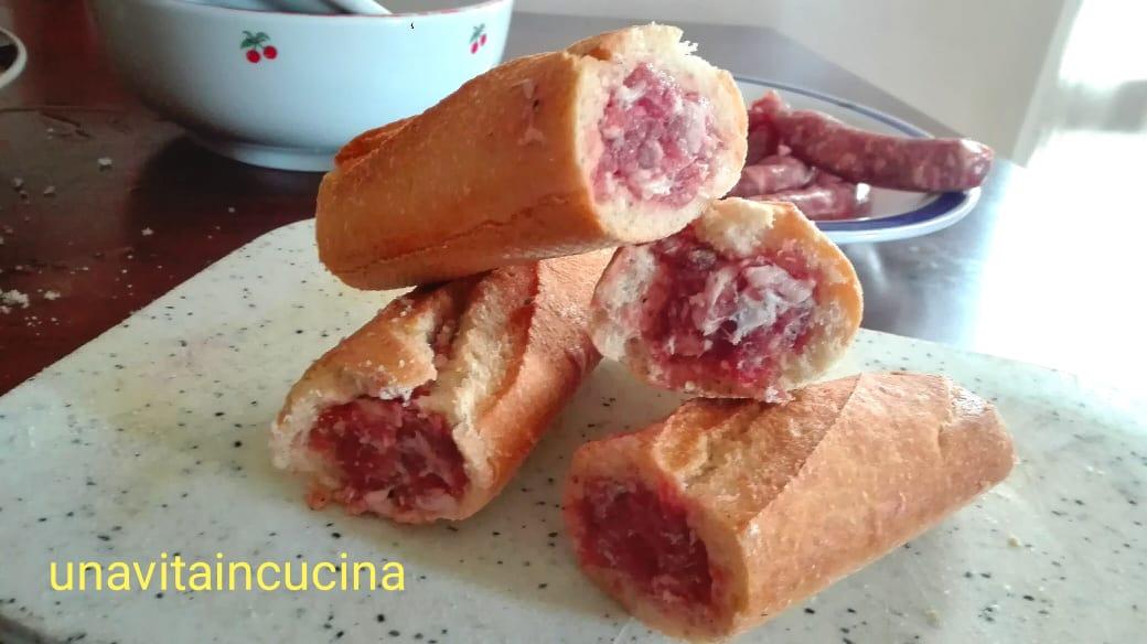 Baguette con salsiccia