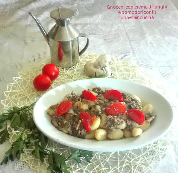 Gnocchi con crema di funghi