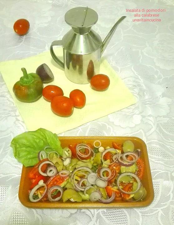 Insalata di pomodori alla calabrese