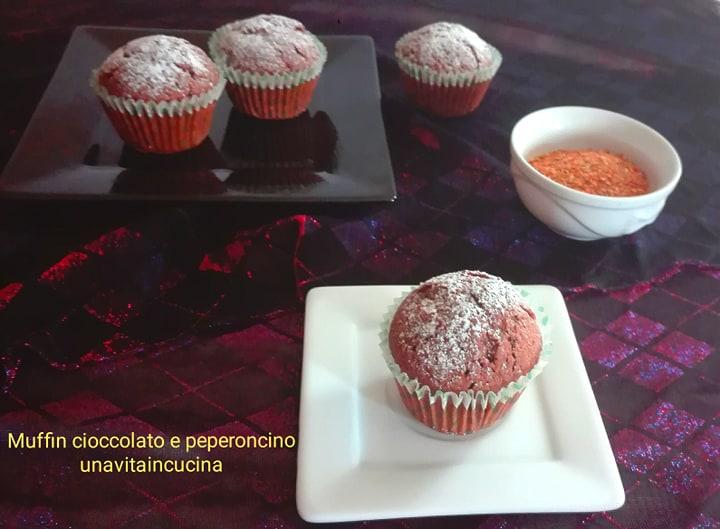 Muffin cioccolato e peperoncino