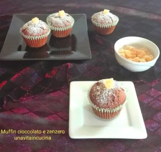 Muffin cioccolato e zenzero