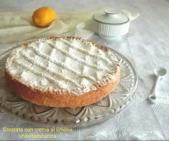 Crostata con crema di limone