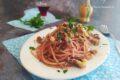 Spaghetti ubriachi con polpo