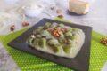 Gnocchi di spinaci con crema di taleggio