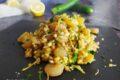 5 cereali con gamberi e zucchine