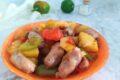 Salsiccia, patate e peperoni