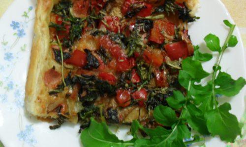 Torta salata rucola&peperoni