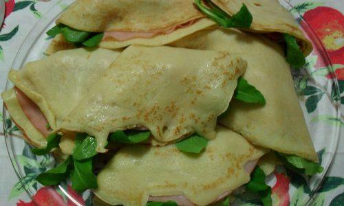 Crepes gorgonzola e rucola