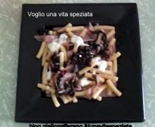 Sedanini con gorgonzola e radicchio