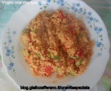 Cous cous peperoni e zucchine