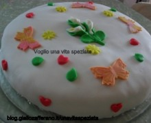 La mia prima torta decorata in pasta di zucchero