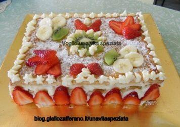 Millefoglie alla crema pasticcera e frutta