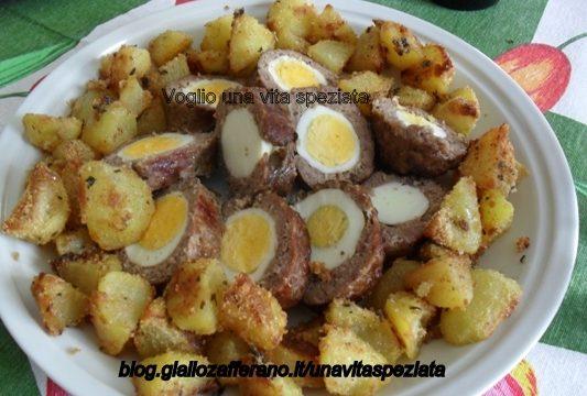 Rotolo di salsiccia e patate sabbiose