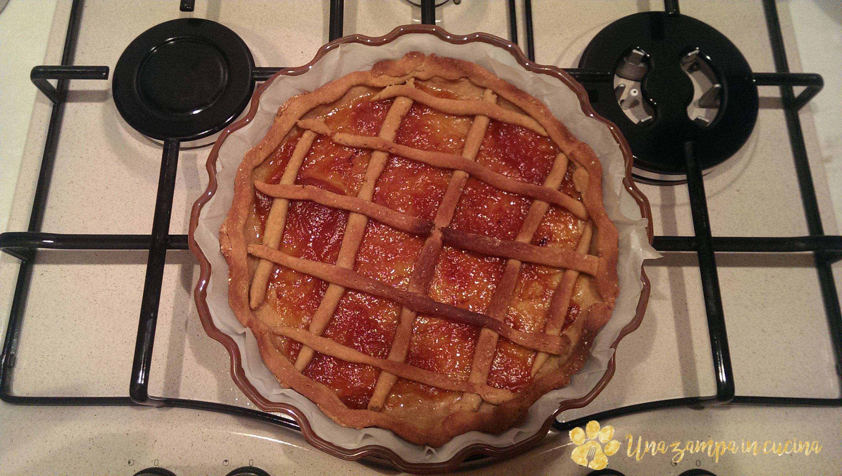 Crostata senza zucchero con farina di avena integrale
