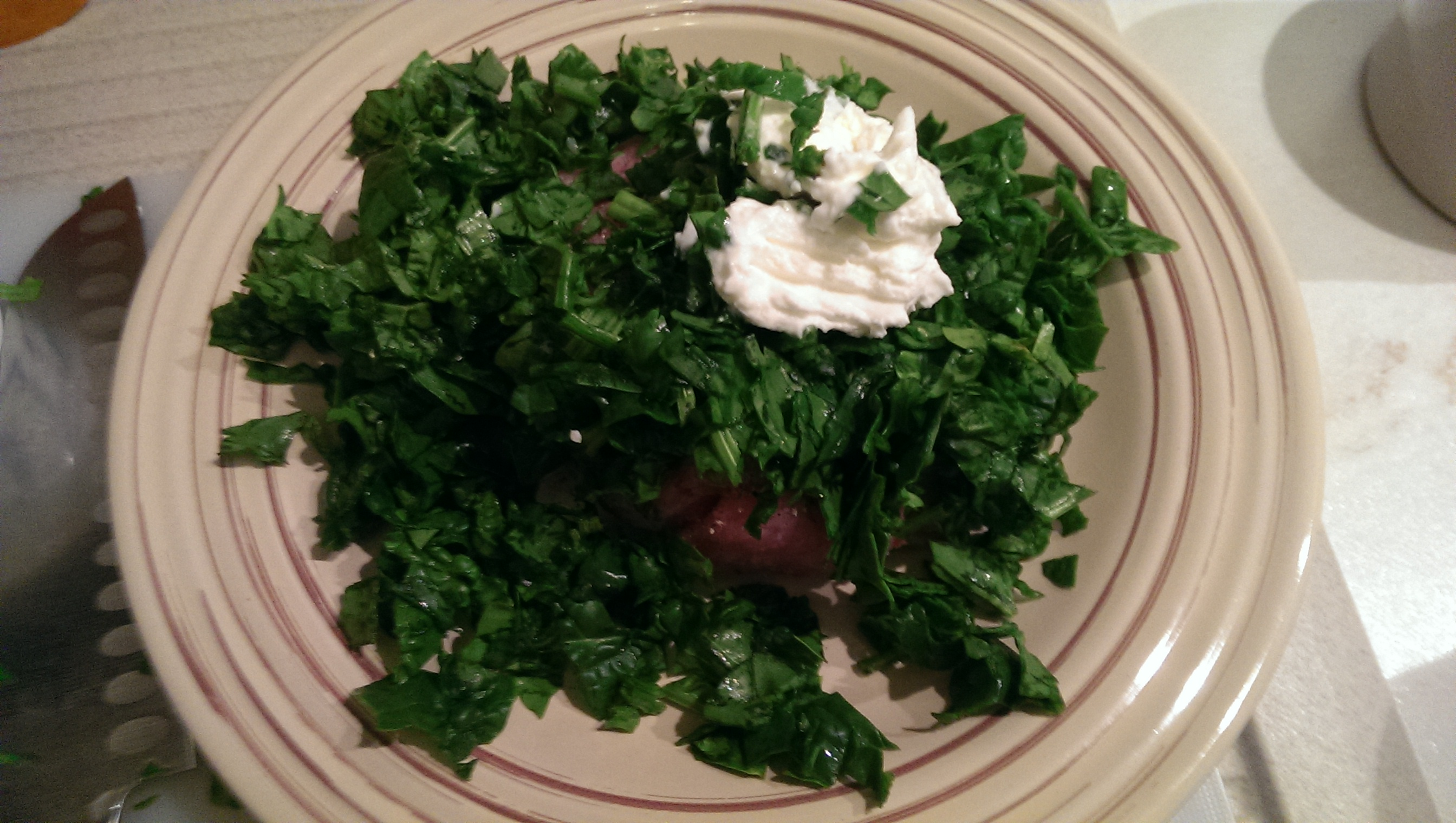 Polpette di pollo, spinaci e yogurt greco
