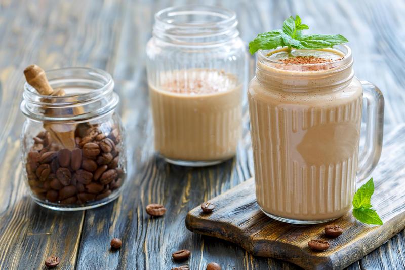 Frullato yogurt e caffè