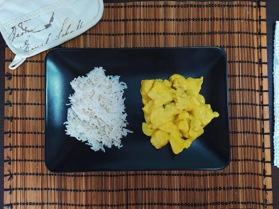 pollo curry riso