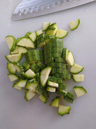 paccheri pesto di zucchine e gamberi