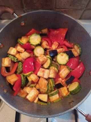 ciambotta zucchine peperoni melanzane