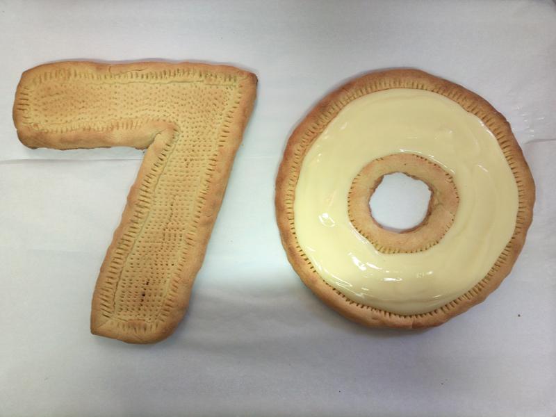 Crostata alla frutta a forma di numero