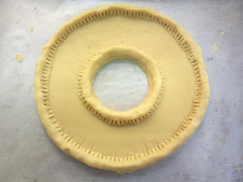 Crostata alla frutta a forma di numero a forma di numero