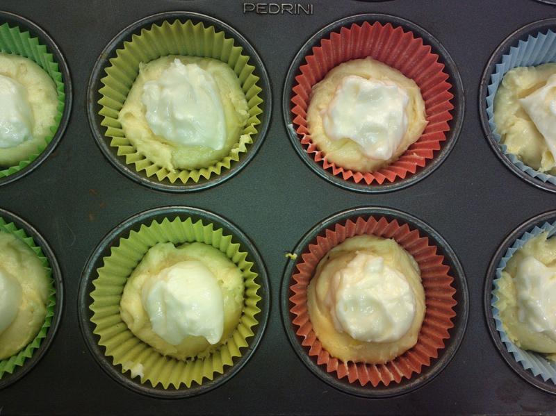 Cupcake ribaltati alla crema di formaggio
