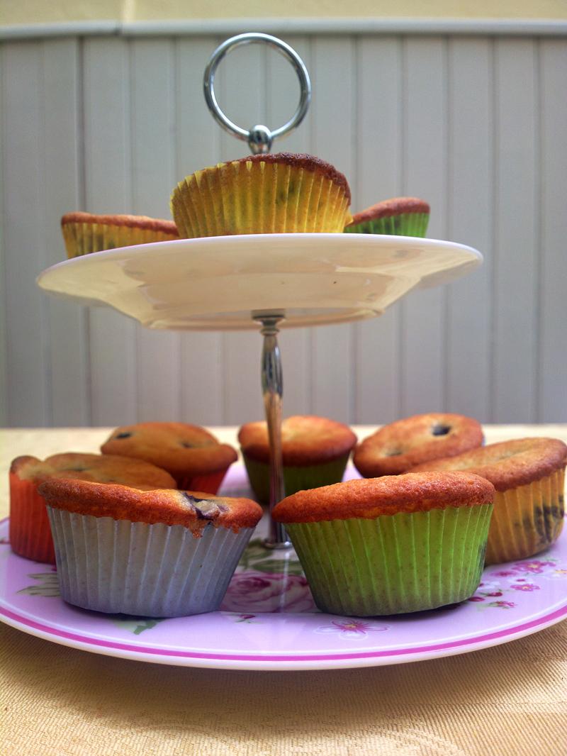 muffin mirtilli e banana