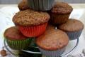 Muffin allo yogurt rosso e prugne - ricetta senza burro