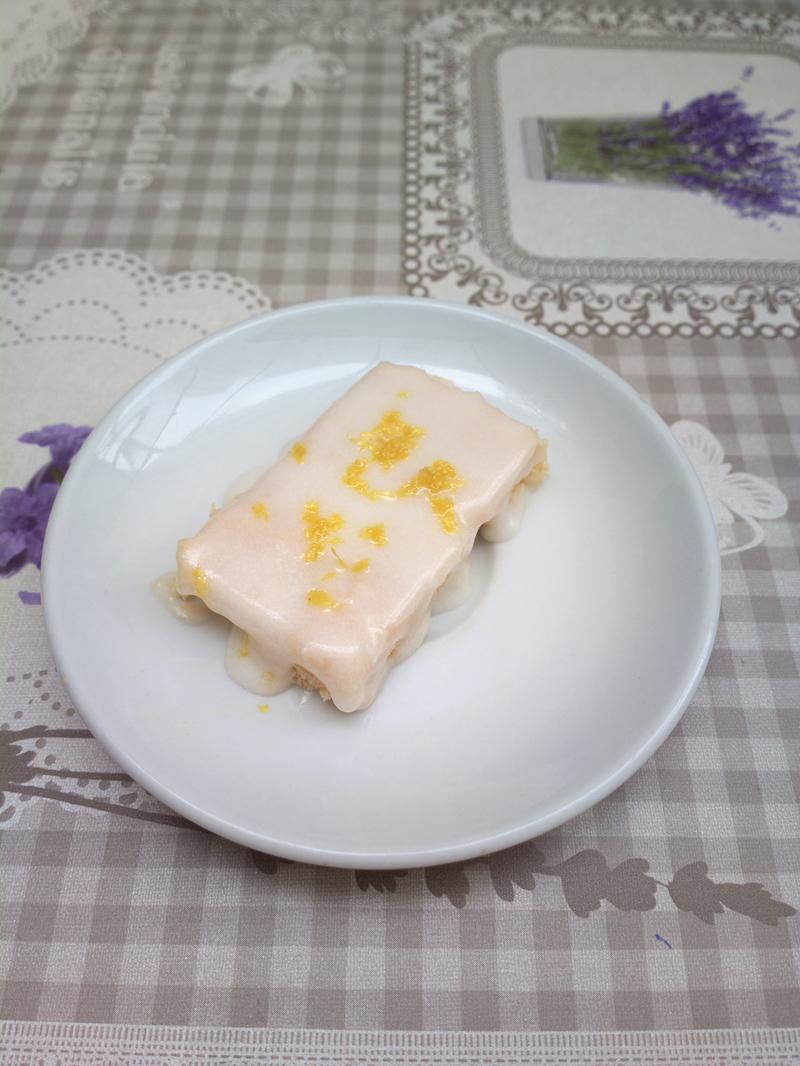 Lemon bars - barrette al limone senza forno