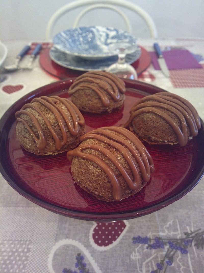 Brownies upside-down con ganache al cioccolato