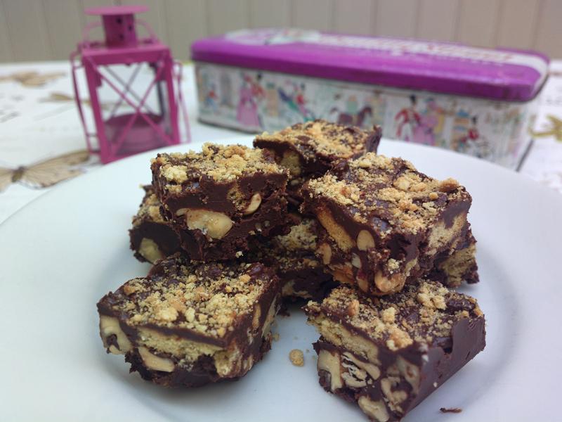 Fudge? No...Rocky roads - barrette al cioccolato inglesi