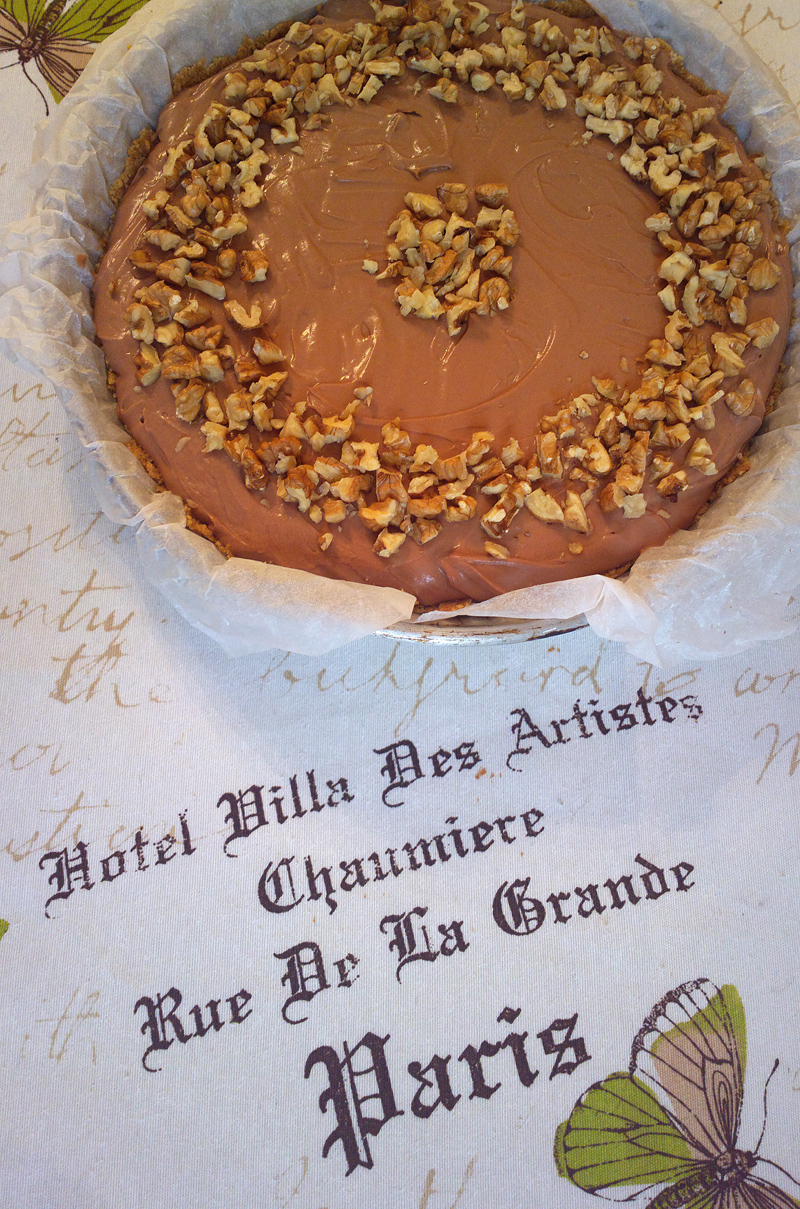 Cheesecake alla mousse di nutella - senza gelatina