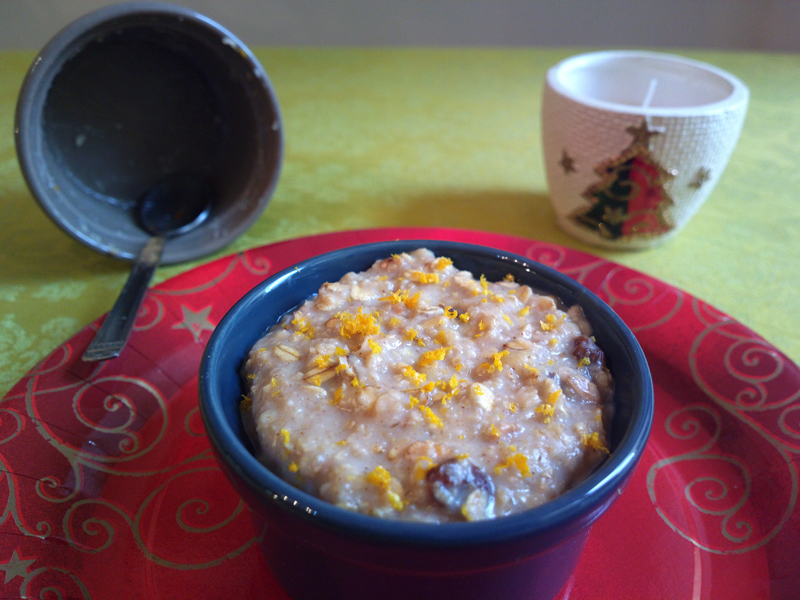 Porridge di natale all'arancia e cannella