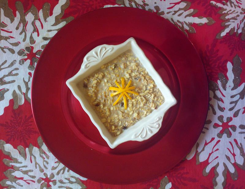 Porridge di natale all'arancia e cannella