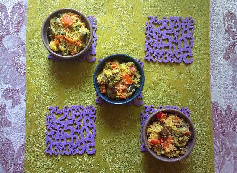 Cous cous alle verdure croccanti e curcuma