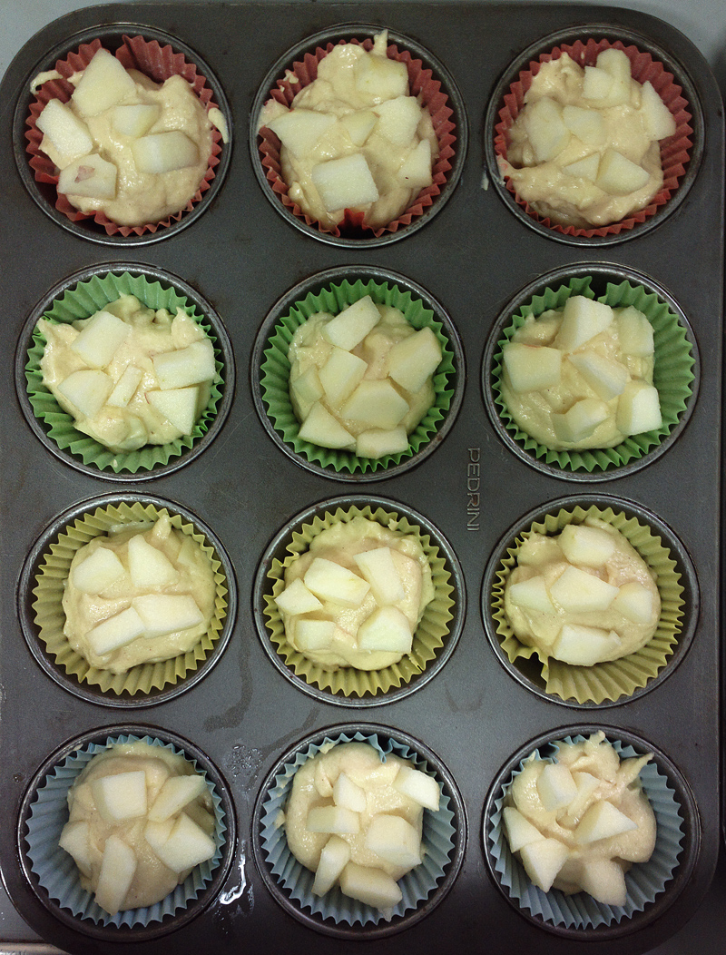 Tortine di mele travestite da muffin